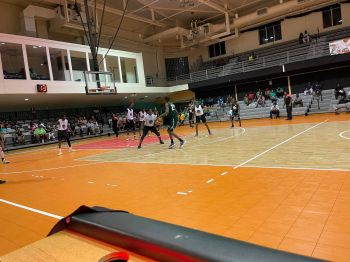 On Sunday, October 3, 2021, Jr VG Bayside Blazers took the advantage in the Best of 5 Championship Series when they comfortably beat Skillful Ballers 75-55 to go 2-1 up. Photo: BVIBF/Facebook