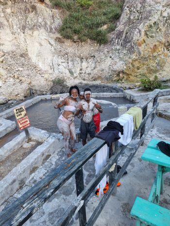 The Sulphur Springs in St Lucia where one can take a bath in mineral water. Photo: Provided