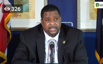 Premier and Finance Minister Honourable Andrew A. Fahie (R1) said amendments to travel protocols for cruise ship passengers were made following feedback from the industry stakeholders and health officials. Photo: Facebook