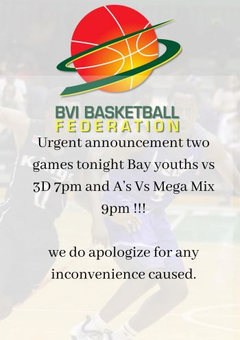 Fans looking forward to the mouth-watering clash between Guns and VG Bayside Blazers in the BVI Basketball Federation (BVIBF) National 'District' League will have to wait a little longer as the game scheduled for this evening, September 19, 2021, is no longer on. Photo; BVIBF/Facebook