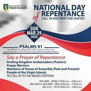 The public can call in at various radio stations at scheduled times during the National Day of Repentance today, Sunday, March 29, 2020. Photo: GIS
