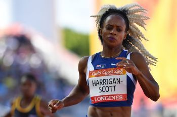 Tahesia G. Harrigan-Scott ran her final race in the athletic's women's 100m semi-finals during the 2018 Gold Coast Commonwealth Photo: Saeed Khan/AFP/Getty Images
