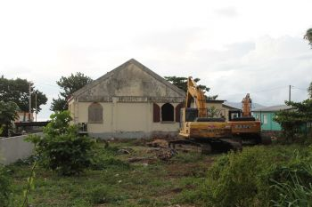 The old Carrot Bay Seventh-day Adventist Church was demolished in December 2019. Photo: VINO/File