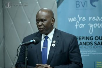 Minister for Health and Social Development Honourable Carvin Malone (AL) has urged the Virgin Islands to continue to pray, adhere to established COVID-19 protocols and guidelines, follow curfew orders and get vaccinated. Photo: VINO/File