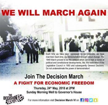 The Decision to March will start at 2:30 PM on Thursday May 24, 2018 from the Sunday Morning Well. Photo: Facebook