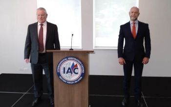 Commissioner Gary R. Hickinbottom, left, and Press Secretary Mr Steven Chandler, right. The CoI is said to be investigating the consultancy contract of Claude O. Skelton-Cline with Government. Photo: VINO/File