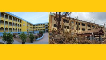 The Elmore Stoutt High School L–shaped building and other school buildings destroyed by the hurricanes of 2017 were finally repaired when the Virgin Islands Party (VIP) Government took office in February 2019. Photo: VINO/File