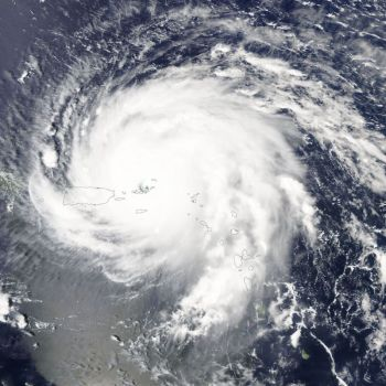 A satellite view of the monster Huricane Irma over the Virgin Islands on September 6, 2017. Photo: Wikimedia