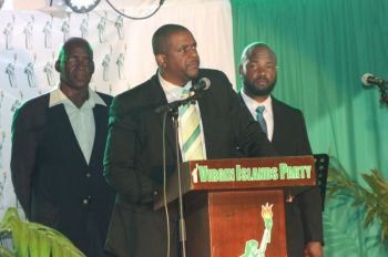 According to Virgin Islands Party (VIP) Chairman and Opposition Leader, Hon Andrew A. Fahie (R1) said the Virgin Islands Party was left in some serious 'financial positions' after the 2015 snap elections. Photo: VINO/File