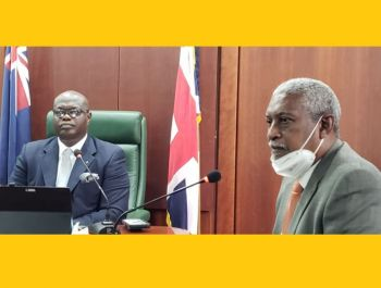 Attorney Richard G. Rowe, right, has said Silk Legal, representing Speaker Julian Willock, will be taking an action against the Attorney General for a declaration from the court that her appointment of these persons to the CoI before they have been admitted to the Bar, is void. Photo: VINO/File