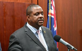 According to Premier and Minister of Finance, Honourable Andrew A. Fahie (R1), the shared mission is to stop COVID-19 in its tracks. Photo: GIS/Facebook/File