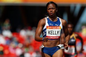 Ashley Kelly closed out her GC2018 performance with a 53.00 finish in the 400m semi-finals. Photo: Adrian Dennis/AFP/Getty Images