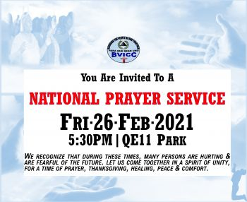 According to the BVI Christian Council, at the National Prayer Service, there would be worship, prayer, and the preached word of God. Photo: BVICC