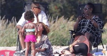 Beyonce, Blue Ivy and dad 'Jay Z'. Photo: Instagram