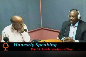 Premier and Minister of Finance, Hon Andrew A. Fahie (R1), right, with Mr Claude O. Skelton-Cline on 'Honestly Speaking' on ZBVI 780 AM on January 7, 2020. Photo: Facebook