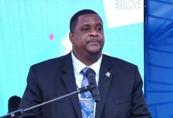 Premier and Minister of Finance Honourable Andrew A. Fahie (R1) said the berthing of this first ship today, October 13, 2021, represents the rebirth of cruise tourism. Photo: Facebook