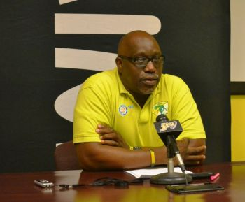 Dean Greenaway, President of the BVIAA, welcomed the incentive and hopes to have a Carifta Squad of approximately 20. Photo: Charlie E. Jackson/VINO