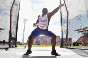 Eldred Henry rounded off the VI's performance at the Games with his seasonal best throw of 50.96 when he competed in the Discus final. Photo: Dan Mullan/Getty Images