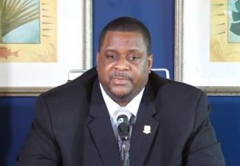 Premier and Minister of Finance Honourable Andrew A. Fahie (R1) has also said the Customs and Immigration Forms will be removed from the travel portal. Photo: VINO/File