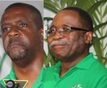 Honourable Andrew A. Fahie (R1) and Honourable Julian Fraser RA (R3) are the Opposition members on the PAC. Photo: VINO/File