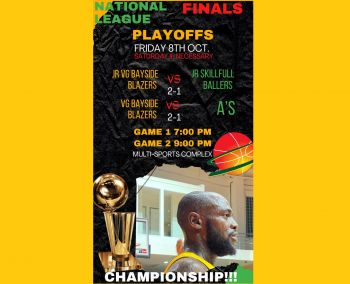 Arguably the best teams in the BVI Basketball Federation (BVIBF) National 'District' League, the Junior and Senior VG Bayside Blazers are on the cusp of lifting both titles, with only one more game to wrap up the Best of 5 Championship Series. Photo: BVIBF