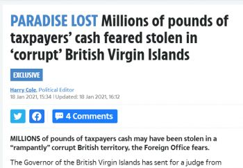 Just like when the drug bust was made in the Virgin Islands in November 2020, detailed information about the Commission of Inquiry was splashed menacingly across newspapers across the UK, even before the local media was able to get proper information. Even the Government and Financial Services were caught off guard. Photo: VINO