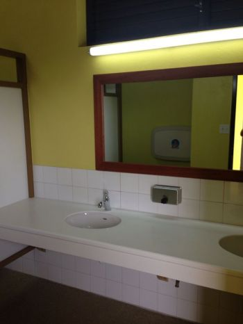 Another view of the interior of the bathroom and toilet facilities now completed at Top of the Baths, Virgin Gorda. Photo: Provided