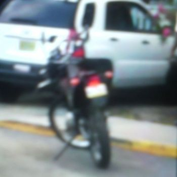 The motorcycle involved in the accident in Road Town. Photo: Provided