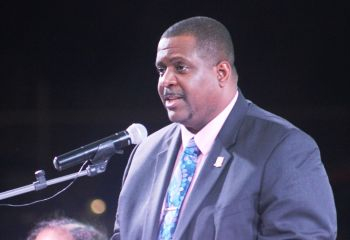 Speaking at his Annual First District Report at Cappoon's Bay Recreation Ground on Saturday, January 30, 2021, Premier and Minister of Finance, Hon Andrew A. Fahie (R1) said there will be an extension to the stamp duty waiver due to the high interest by young people to capitalise on the initiative. Photo: VINO