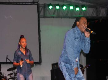Local artistes Craig and Shanda Glasgow performing at Gospel Fest 2017 which was held on Sunday July 30, 2017. Photo: VINO