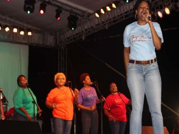 Joy Praise performing at the 2017 Gospel Fest which was held on Sunday July 30, 2017. Photo: VINO