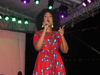 Gabrielle Denae, BVI's very own gospel recording artiste, who has been recognized throughout the region, was one of the high point at the Gospel fest. Photo: VINO
