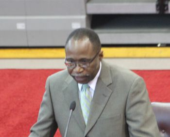 Leader of the Opposition Honourable Julian Fraser RA told the House of Assembly yesterday April 18, 2016 that while the Opposition had no issues with the significance or importance of the Cruise Pier Development Project, the process cannot be breached in the name of expediency. Photo: VINO/File