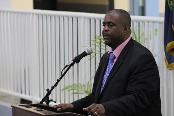Premier and Minister of Finance Honourable Andrew A. Fahie (R1) has cautioned hoteliers and others in the tourism industry that tourists visiting the territory as of December 1, 2020, should not be allowed to do as they please with the government-imposed rules for keeping the Coronavirus Disease (COVID-19) at bay, while at their respective properties. Photo: VINO/File
