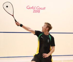 Joe Chapman competed in the Squash Men's Singles at the Gold Coast 2018 Commonwealth Games. Photo: Chris Hyde/Getty Images