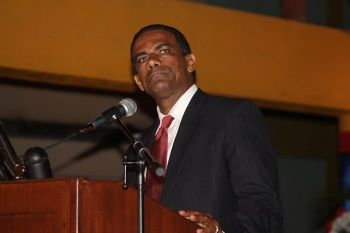 Minister for Natural Resources and Labour Dr The Hon Kedrick D. Pickering (R7) said there will be a penalty for persons found to have understated their income to benefit from lower work permit fees. Photo: VINO/File