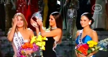 About a minute after Miss Colombia was announced as the winner, Broderick Stephen 'Steve' Harvey approached the front of the stage and said he had to make an announcement. He then revealed he had made a mistake and that Miss Philippines was actually the winner. Photo: twitter