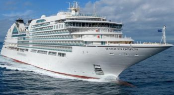 According to Travel Weekly on July 14, 2021, the Seabourn Ovation will start with three 11-day sailings roundtrip from Miami to destinations including San Juan; Guadeloupe; [British] Virgin Islands, including Jost van Dyke; St Kitts; and Antigua in November. Photo: cruisemapper.com