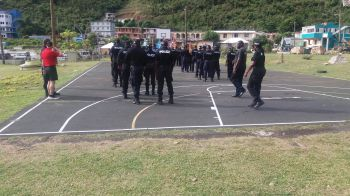 """In a press release issued today, Thursday, February 7, 2019, they stated that """"Officers of the RVIPF are advancing the skills of some 44 officers in keeping public order through funding from the Foreign and Commonwealth Office."""" Photo: RVIPF"""
