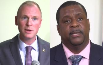 The revelations of the leaked position statement by Ministers further lend to assertions that the Commission of Inquiry (CoI) was only called because ex-governor Augustus J. U. Jaspert, left, was aggrieved he was unable to get his way with the elected government of Premier Andrew A. Fahie (R1), right. Photo: VINO/File
