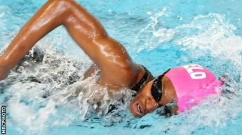 Elinah had already picked up a Bronze Medal at the Games in the 50m Butterfly, to become the Territories first ever Medal winner at the Games. Photo: Provided