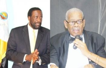 Former Premier of the Virgin Islands Ralph T. O'Neal OBE declined to comment on Mrs V. Inez Archibald's announced plans to retire, while former Minister for Communications and Works and former Second District Representative J. Alvin Christopher (left) said he would comment at a later time. Photo: VINO/File