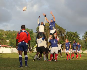 The second half was a repeat of the first and BVI continued to enjoy territorial advantage through most of the second frame. Photo: Providedied