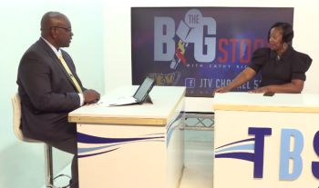 'When we got in, we found that they may have turned it over but the contractor needed to be there another six to seven months in order for him to complete the works that were actually contracted to do,' Hon Carvin Malone told host Cathy O. Richards during his October 8, 2019 appearance on JTV's Big Story. Photo: JTV/Facebook