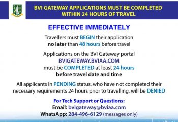 The new protocols were announced yesterday, December 11, 2020, and is effective immediately a release from the BVI Airports Authority (BVIAA) said. Photo: Facebook/GIS