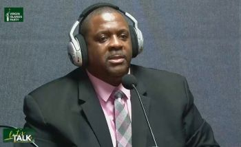 The caller was at the time speaking the Premier and other Government members on the Tuesday, February 16, 2021, first edition of the Virgin Islands Party (VIP) 'Let's Talk' radio show on ZBVI 780 AM and live-streamed on Facebook. Photo: Facebook/File