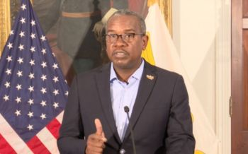 Governor of the United States Virgin Islands (USVI) Mr. Albert Bryan Jr. will today, July 15, 2021, announce new travel protocols for persons traveling between the USVI and [British] Virgin Islands. Photo: Internet Source