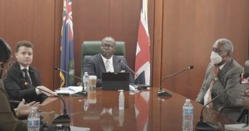 Hon Julian Willock made the announcement in a press conference today, August 18, 2021, alongside Silk Legal's Richard G. Rowe and Daniel R. F. Davies. Photo: HoA/Youtube