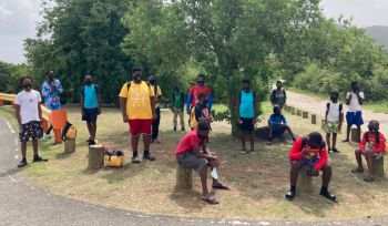 In total, 40 young men ages 7 upwards participated in the programme along with 10 leaders and guides for a total of 50 persons as part of a 'discovery' themed programme which also included marine and environmental conversation activities. Photo: Provided