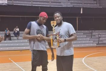 Kyron Walwyn was named Most Valuable Player after the championship was handed to Jr Skillful Ballers after Jr Bayside Blazers refused to play under terms dictated by their opponents. Photo: VINO